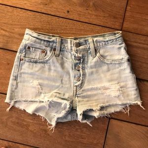 Levi's shorts, size 24, purchased at Free People